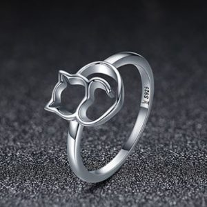 cat ring authentic 925 silver